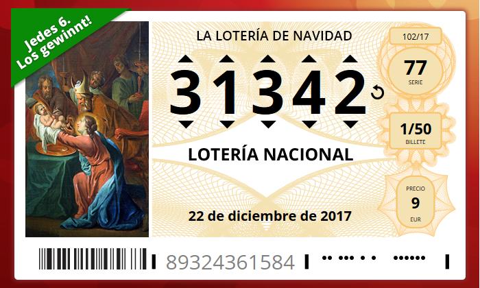 Spanische Weihnachtslotterie El Gordo