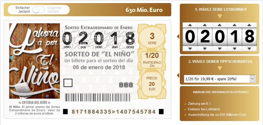 El Nino Gewinnzahlen