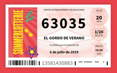 El Gordo spanische Sommerlotterie-im Juli wird es brennen
