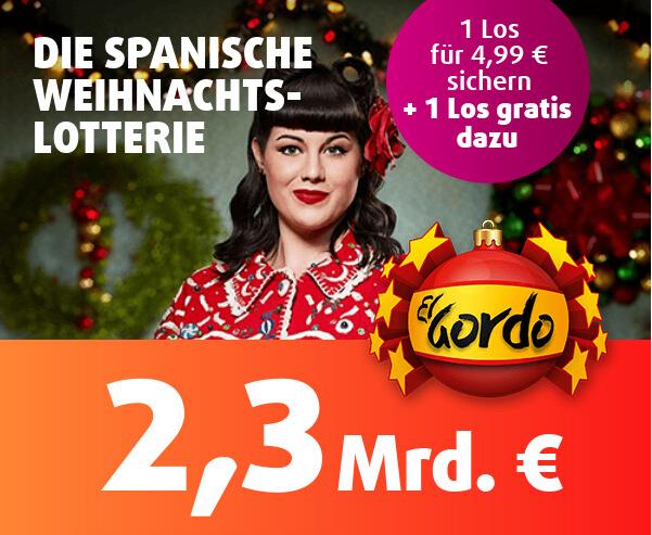 El Gordo spanische Weihnachtslotterie GUTSCHEINE