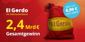 Elgordo spanische Weihnachtslotterie GUTSCHEIN