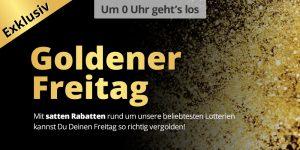 Goldener Freitag bei Lottohelden - 50% Rabatt